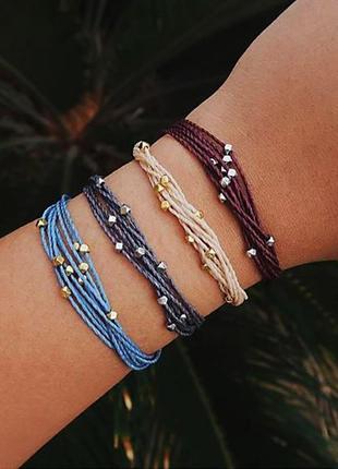 Набор многослойных браслетов разных цветов 4 штуки