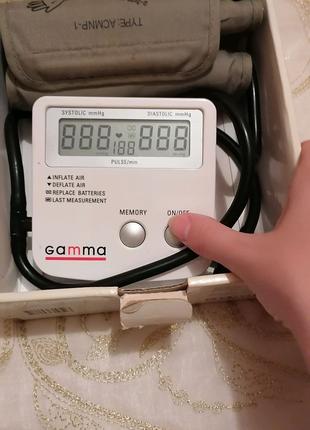 Полуавтоматический измеритель артериального давления Gamma
