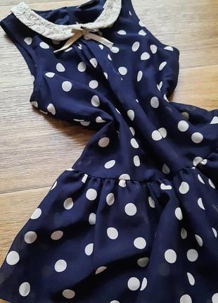 Платье детское в горошек на 4-5 лет