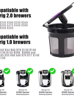 Многоразовая капсула K-чашка icafilas, фильтр кофе Keurig 1.0 2.0
