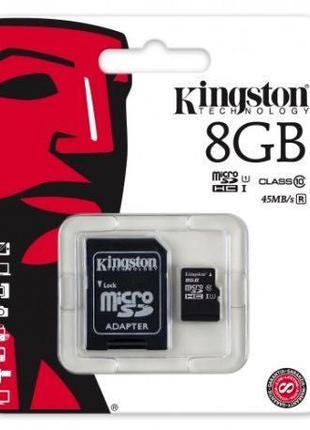 Карта памяти MicroSD KINGSTON 8GB 10 class
