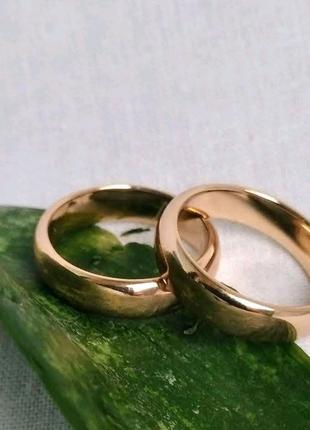 Обручальные кольца ,6мм из медицинского золота, XUPING