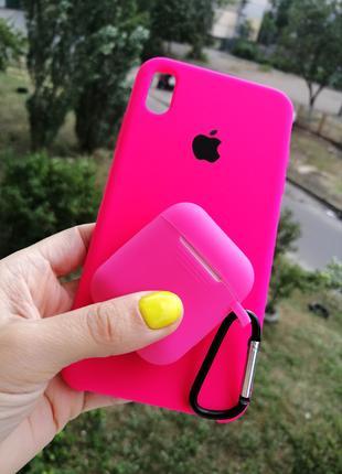 Чехол Silicone Case на iPhone айфон 6/s/6/7/8/X/r/max/11 pro + пл
