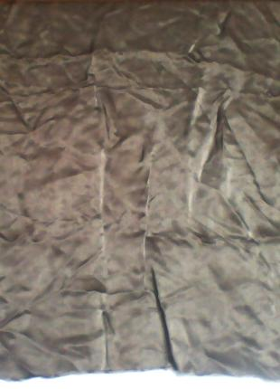 Ткань подкладочная шелк серая