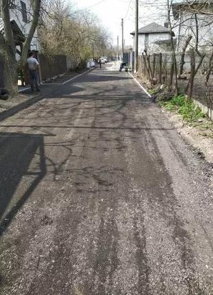Укладка асфальтной крошки вторичный асфальт, подсипка дорог