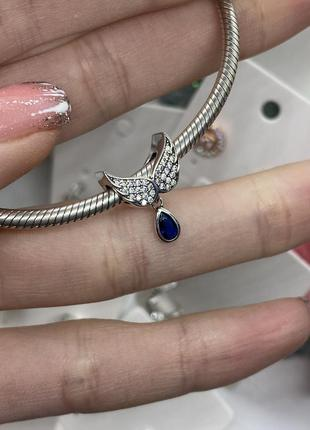 Шарм крылья ангела на браслет серебро