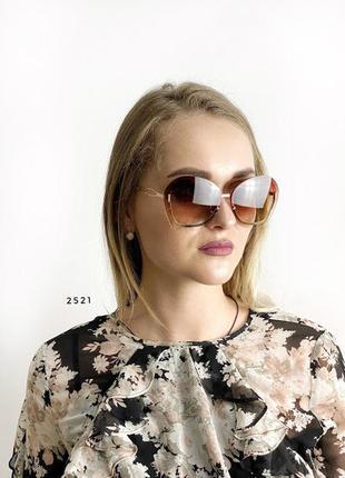 Стильні коричневі окуляри к. 2521
