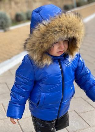 Стильный зимний костюм двойка, комбинезон на мальчика