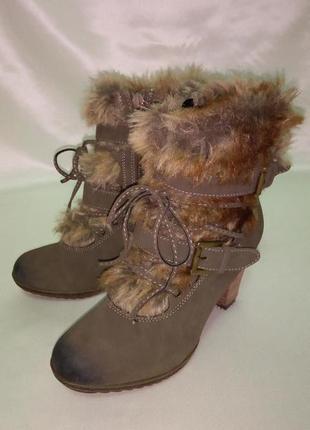 Зимние высокие ботинки rieker, 36р.