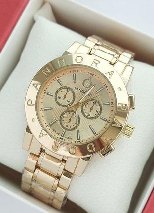 Женские наручные часы под золото на металлическом браслете, оч...