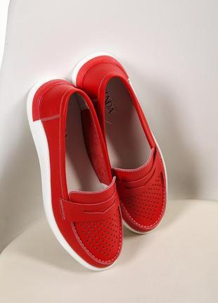 Літні туфлі лофери / кеди