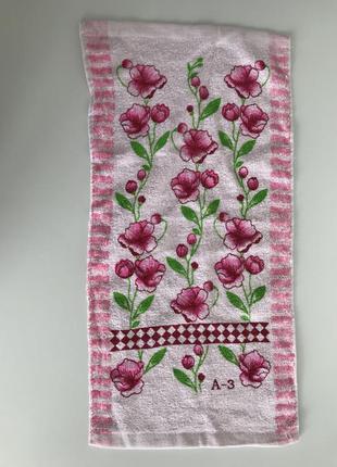 Кухонное полотенце, кухоний рушник, розовое кухонное полотенце.
