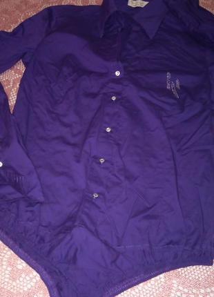 Котоновая стречевая рубашка-боди италия artig