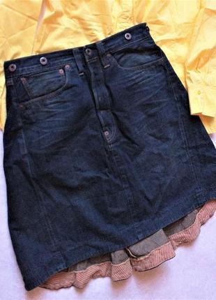 Винтажная джинсовая юбка легендарного levi strauss & co