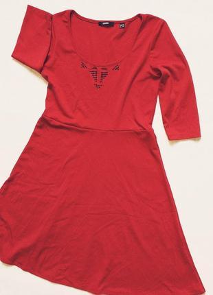 Красное платье на каждый день  миди esmara, 46-48