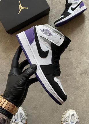 """Nike air jordan retro 1 mid """"varsity purple"""""""