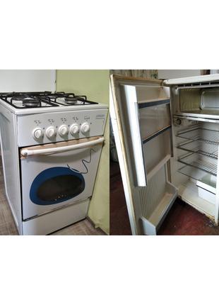 Газовая печь Nord + холодильник