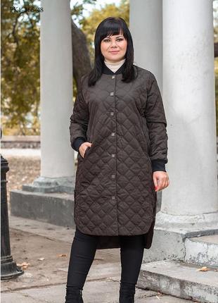 Женское пальто весну шоколад