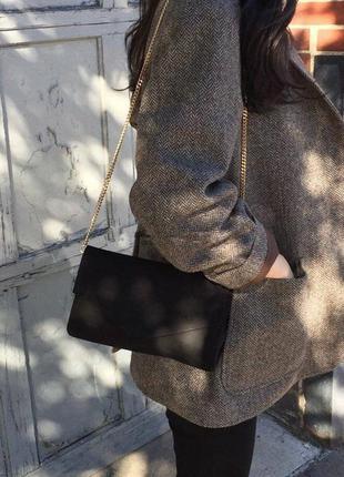 Идеальная бархатная сумочка, сумка на длинной ручке-цепи