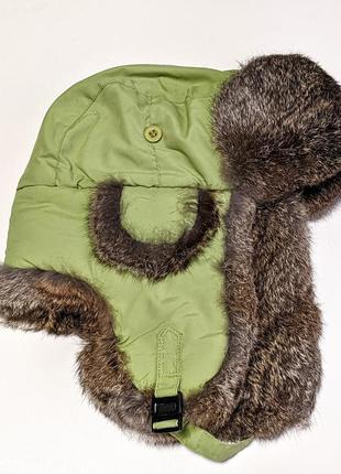 Crown cap канадская шапка ушанка авиатор мех |кролика |трекинг...