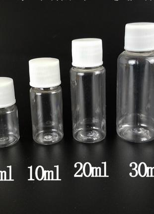 Многоразовая портативная пластиковая прозрачная бутылочка -10мл