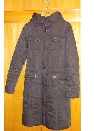 Пальто теплое 46 размер  черное
