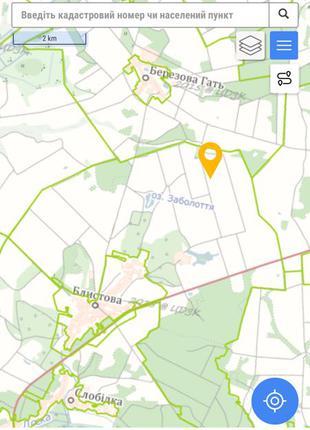 Земельный участок 5,04 га. с.Блистова. Чергиновская область.