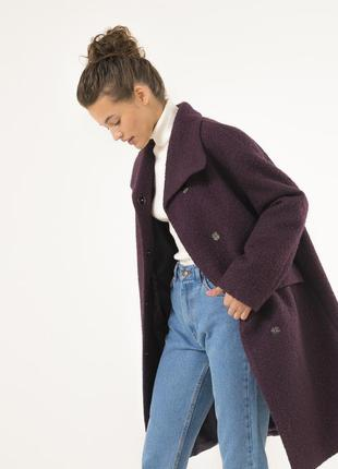 Женское шерстяное пальто season наоми сиреневого цвета