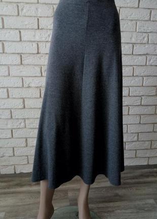 Длинная трикотажная юбка осень