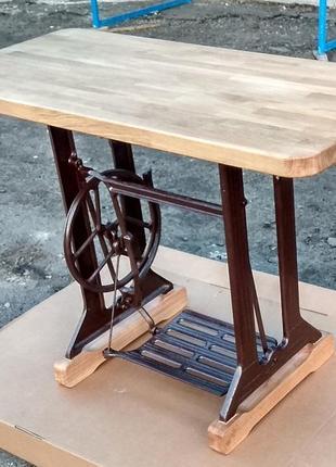 Добротный столик из швейной машинки