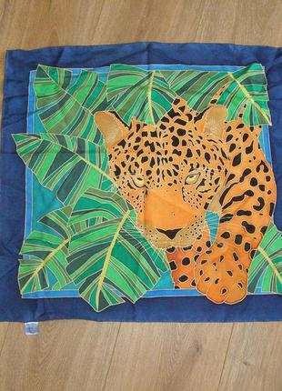 Расписной шейный платок artys, размер 55х55 см, шелк