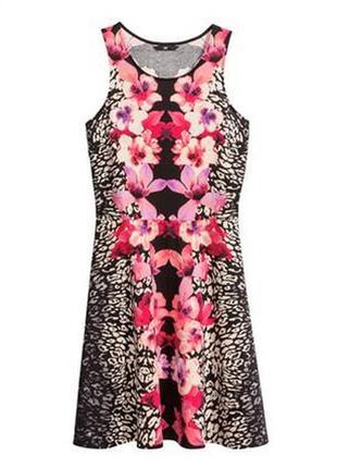 Платье в цветочный принт h&m