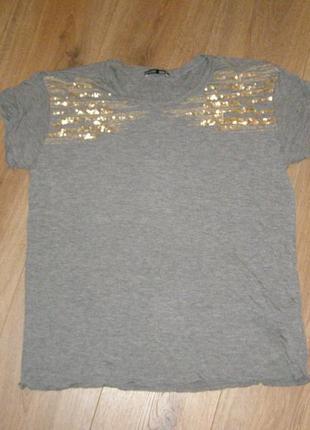 Zara футболка свободного кроя, р.м
