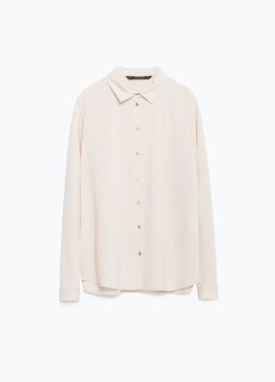 Рубашка zara с длинными рукавами