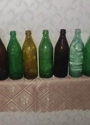 Колекційні пивні бутилки  20-го століття.