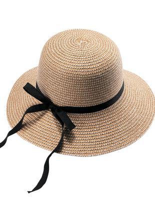 Шляпа соломяная, женская шляпа соломяная