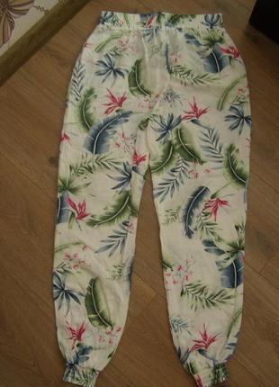 Легкие брюки с принтом на резинке chicoree, р.м