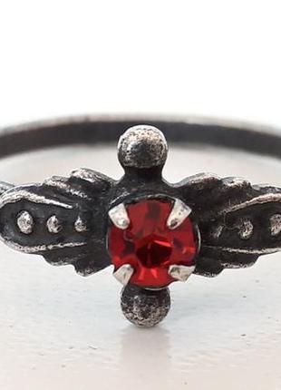 Кольцо времен ссср советское кольцо с красной вставкой кольцо ...