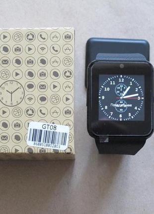 Smart watch gt08 умные смарт часы apple гт08 корея не китай с сим