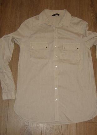 Рубашка в полоску massimo dutti, р.36