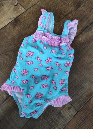 Купальник 9-12м для девочки дівчинки 80см купальный костюм плавки