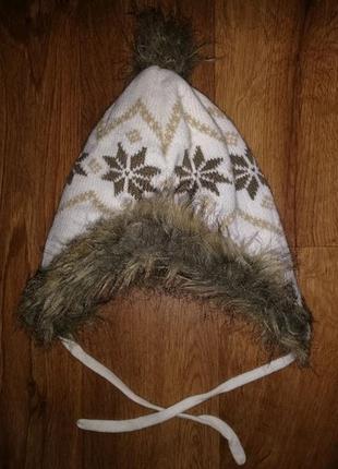 Стильная женская теплая шапка ушанка parallel
