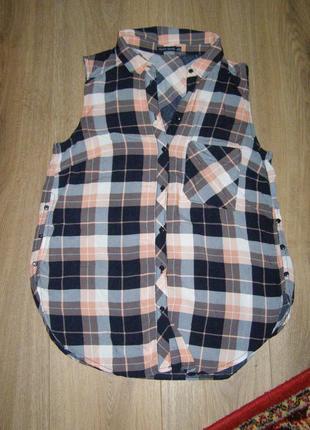 Блуза без рукавов bershka
