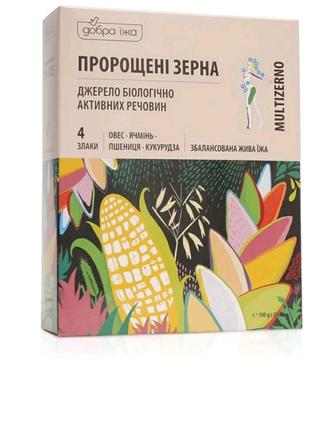 Проросшие зерна 4 злака, 10*10 г.