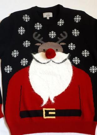 Новогодний свитер унисекс ❄🦌m&s ( размер 38-4040)