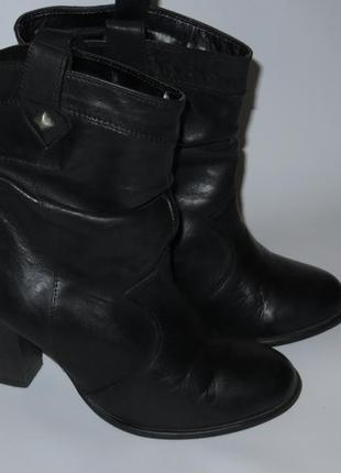 Демисезонные кожаные ботинки р.41