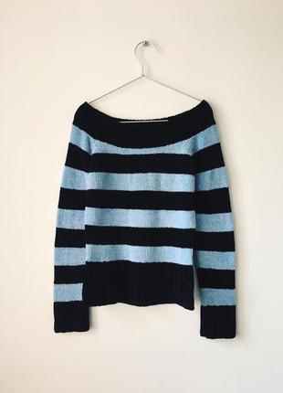 Шенилловый свитер с вырезом-лодочкой chesley черный джемпер в ...