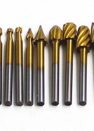 Фрезы с напылением из оксида титана для гравера дремель Dremel