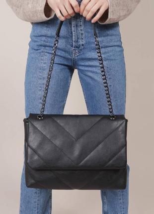 Большой вместительный клатч сумка ремешок цепочка