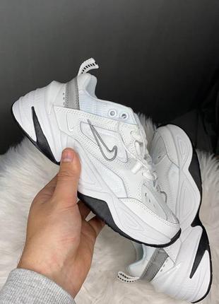 🔥женские кроссовки nike m2k tekno white / cool grey
